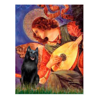 Schipperke 5 - Mandolin Angel Postcard