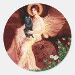 Schipperke 7 - Seated Angel Sticker