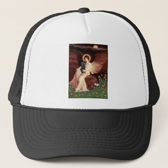 Schipperke 7 - Seated Angel Trucker Hat