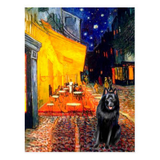 Schipperke 7 - Terrace Cafe Postcard
