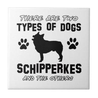 Schipperke dog breed designs tile