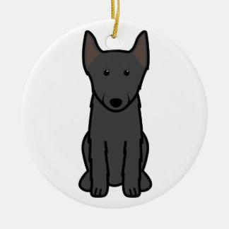 Schipperke Dog Cartoon Christmas Ornament