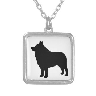 Schipperke Dog Square Pendant Necklace