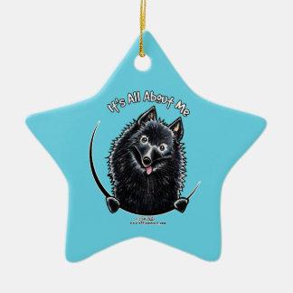 Schipperke IAAM Christmas Ornament