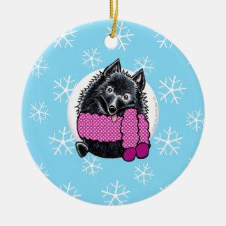 Schipperke Let it Snow Christmas Ornament