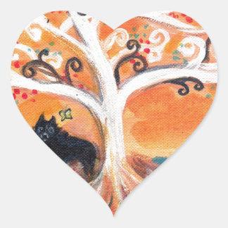 Schipperke love spiritual tree beauty of orange heart sticker