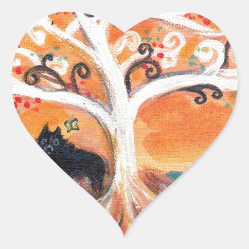Schipperke love spiritual tree beauty of orange stickers