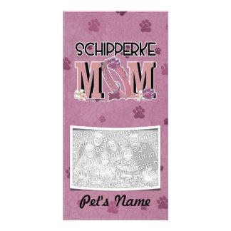 Schipperke MOM Photo Greeting Card