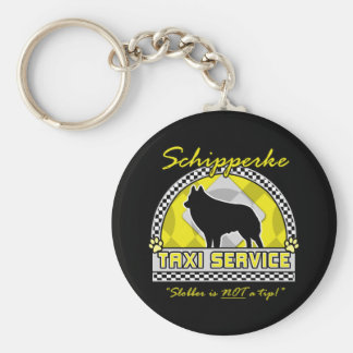 Schipperke Taxi Service Key Ring