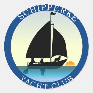 Schipperke Yacht Club Classic Round Sticker
