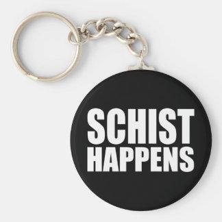 Schist Happens Basic Round Button Key Ring