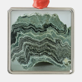 Schist rock christmas ornament