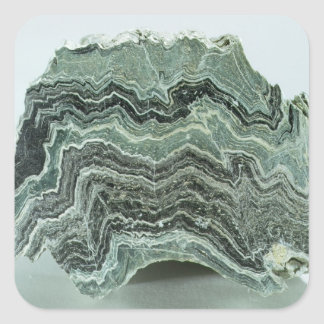 Schist rock square sticker