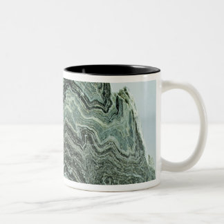 Schist rock Two-Tone coffee mug