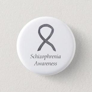 Schizophrenia Awareness Ribbon Custom Pins