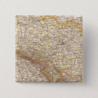 Schlesien Atlas Map 15 Cm Square Badge