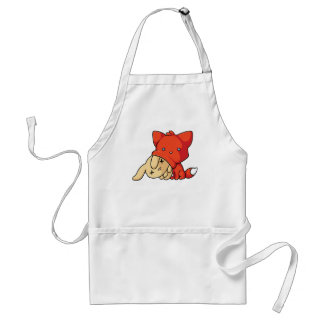 SCHLUP Fox Eating Rabbit Standard Apron