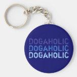 Schlüsselanhänger DOGaHOLIC blau