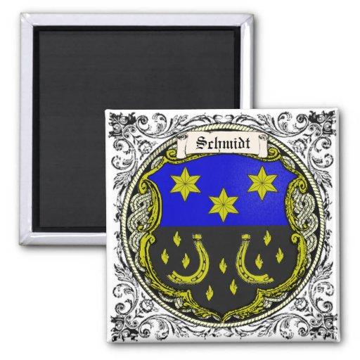 Schmidt (Saar-Rhine) Family Arms Fridge Magnet