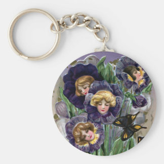 Schmucker Easter Pansy Ladies Key Ring