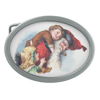 Schmucker: Santa Playing With Children Belt Buckle