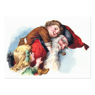Schmucker: Santa Playing With Children Pack Of Chubby Business Cards