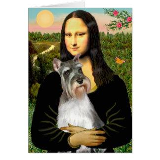 Schnauzer 11N - Mona Lisa Greeting Card