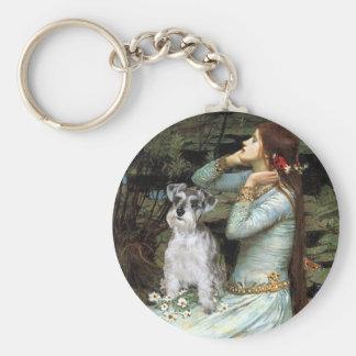 Schnauzer 13 - Ophelia Basic Round Button Key Ring