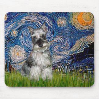 Schnauzer 1 - Starry Night Mouse Pad