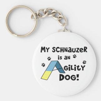 Schnauzer Agility Dog Key Ring