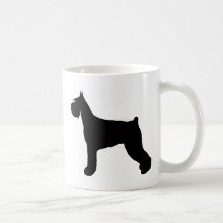 schnauzer basic white mug