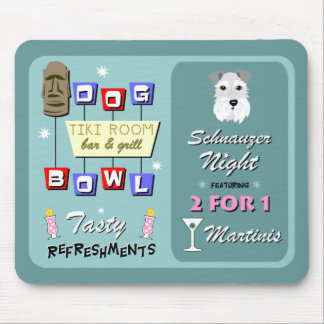 Schnauzer Bowling Night Mouse Mat