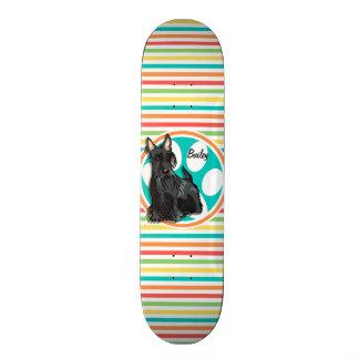 Schnauzer; Bright Rainbow Stripes Skateboards