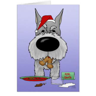 Schnauzer Christmas Card