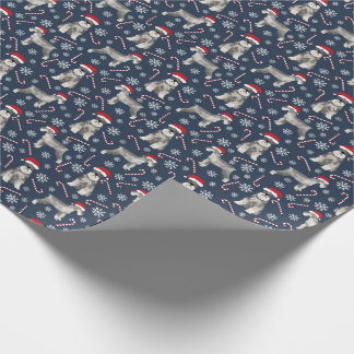 Schnauzer christmas dog wrapping paper