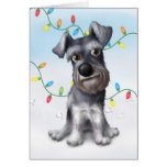 Schnauzer Christmas Greeting Cards