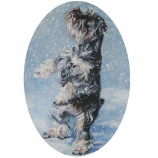 schnauzer christmas ornament photo sculpture decoration