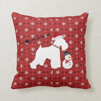 Schnauzer Christmas Pillow