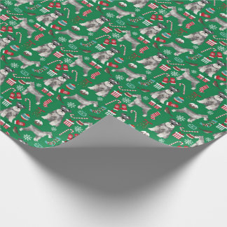 schnauzer christmas wrapping paper