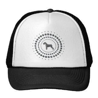 Schnauzer Chrome Studs Cap