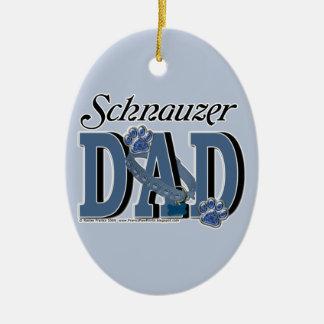 Schnauzer DAD Christmas Ornament