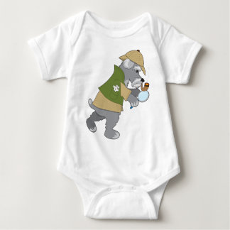 Schnauzer Detective Baby Bodysuit