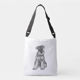 Schnauzer Dog Bag, Double Sided Crossbody Bag