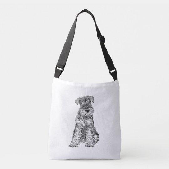 Schnauzer Dog Bag, Double Sided Crossbody Bag