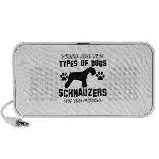 Schnauzer dog breed designs travel speakers