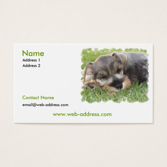 Schnauzer Dog Business Card