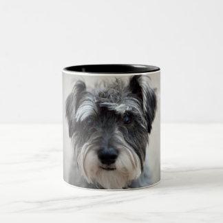 Schnauzer Dog Coffee Cup Two-Tone Mug