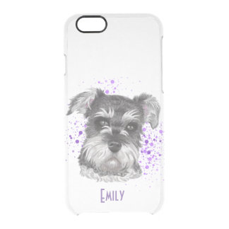Schnauzer Dog Drawing Clear iPhone 6/6S Case