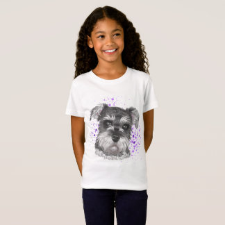 Schnauzer Dog Drawing T-Shirt
