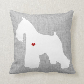 Schnauzer Dog Lover Heart Pet Cushion